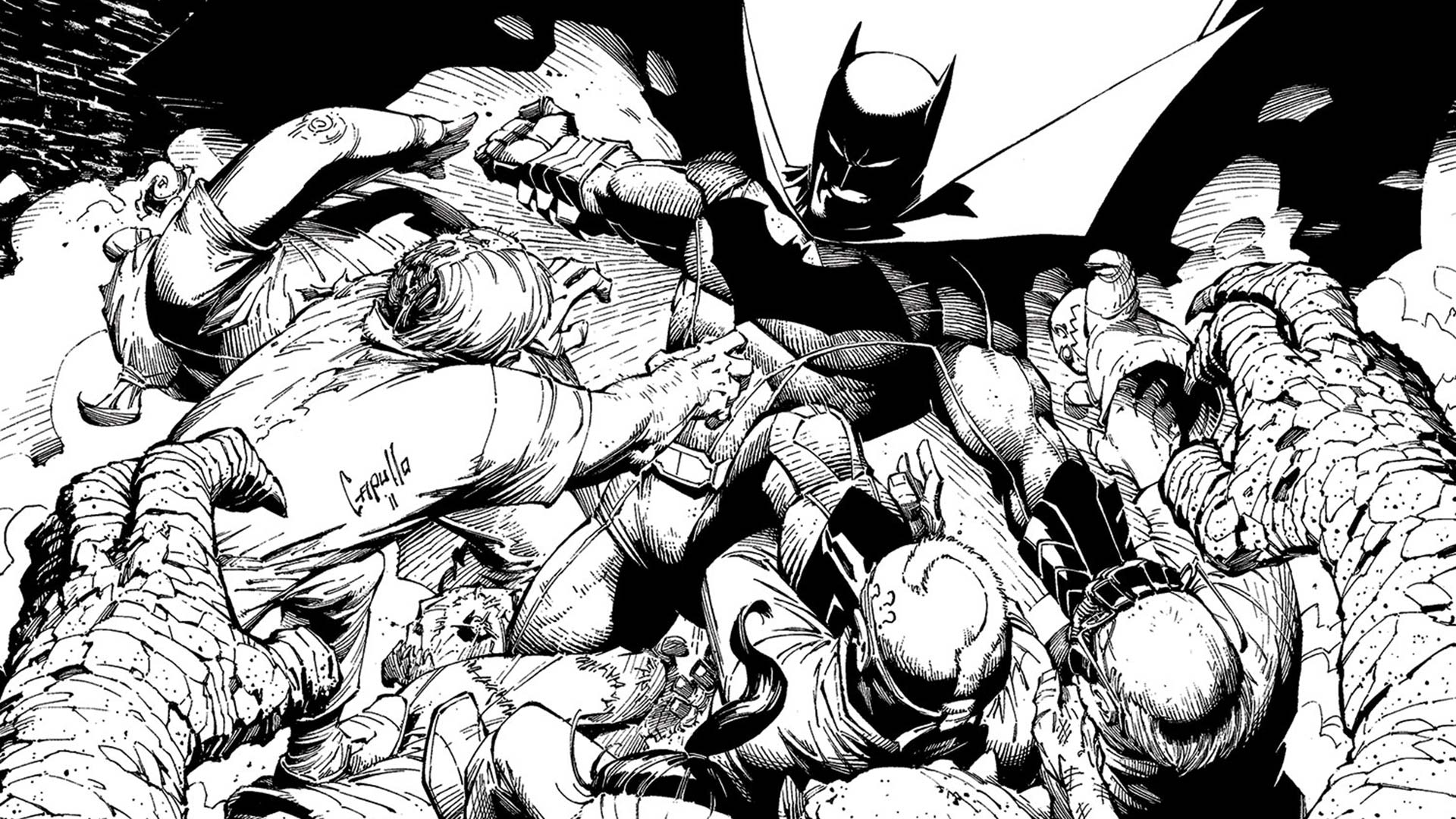 BATMAN THE COURT OF OWLS ADULT COLORING BOOK