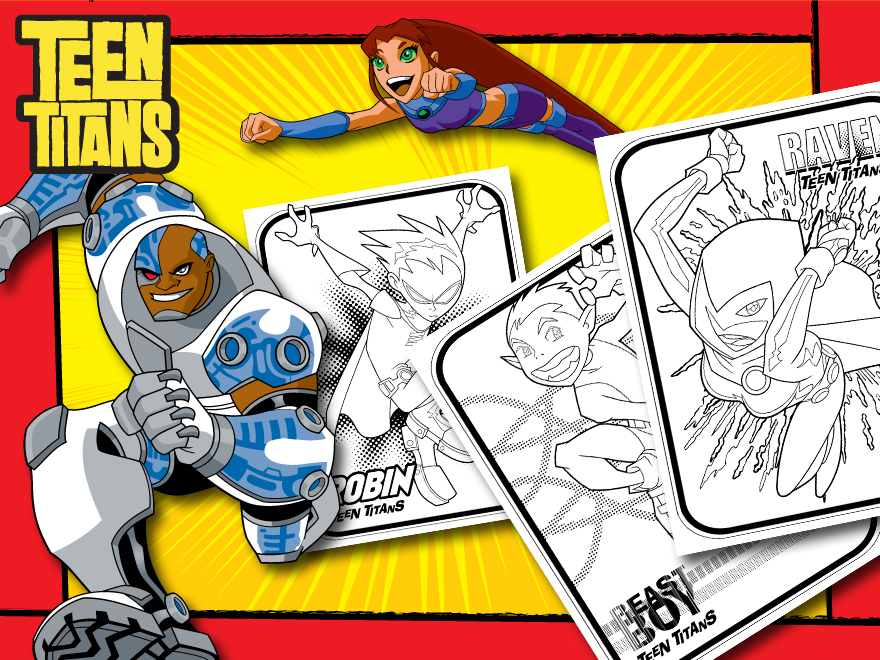 themed printables teen titans