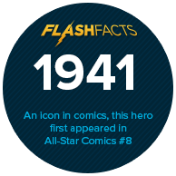 An icon in comics, this hero first appeared in 1941's All-Star Comics #8