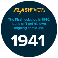 The Flash debuted in 1940, but didn't get his own ongoing comic until 1941