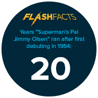 """Years """"Superman's Pal, Jimmy Olsen"""" ran after first debuting in 1954: 20"""