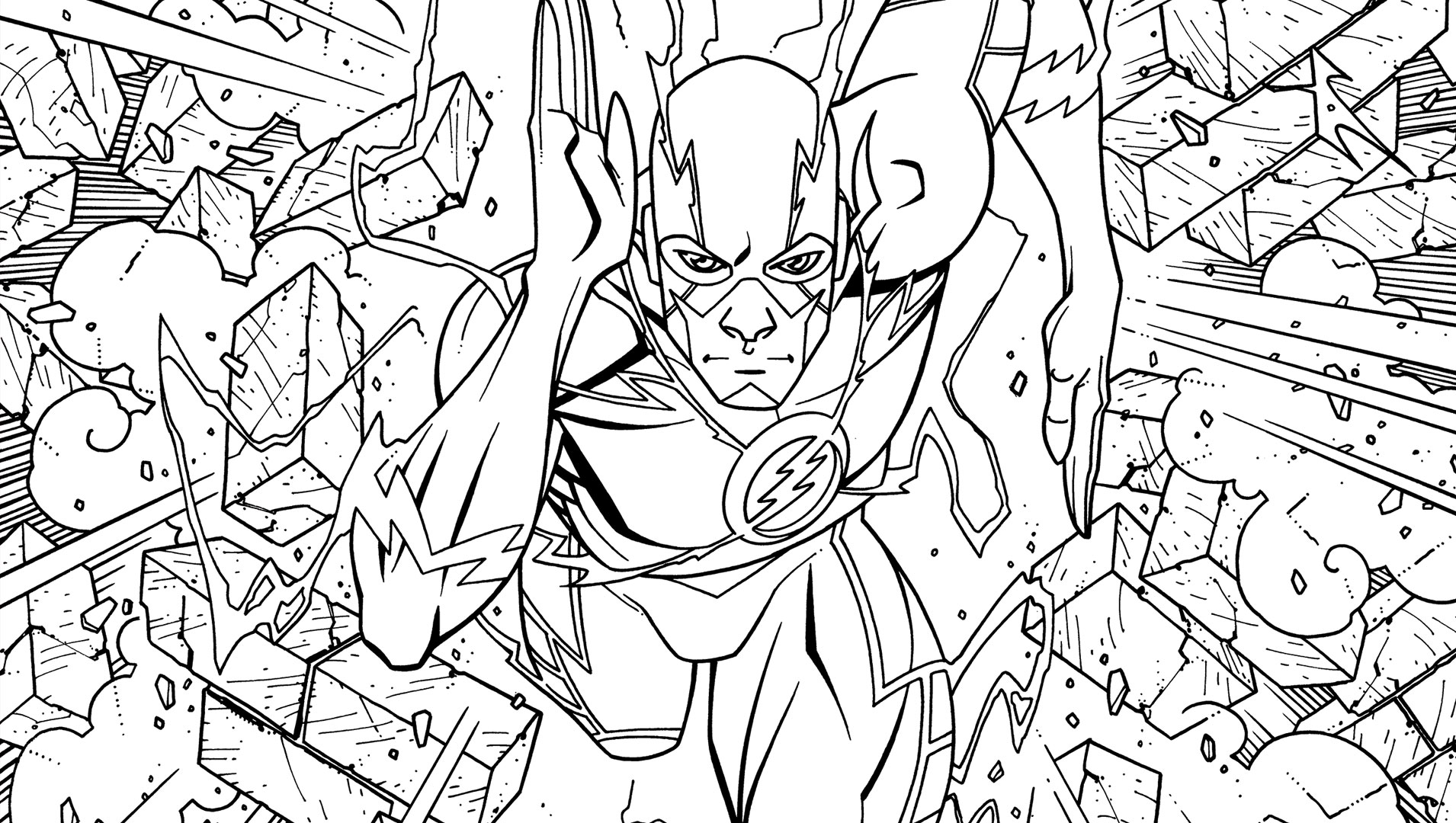 The Flash An Adult Coloring Book  Dc