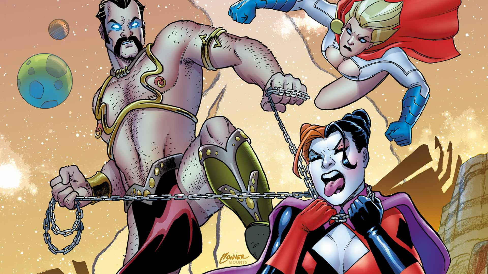 harley quinn and power girl 3 dc