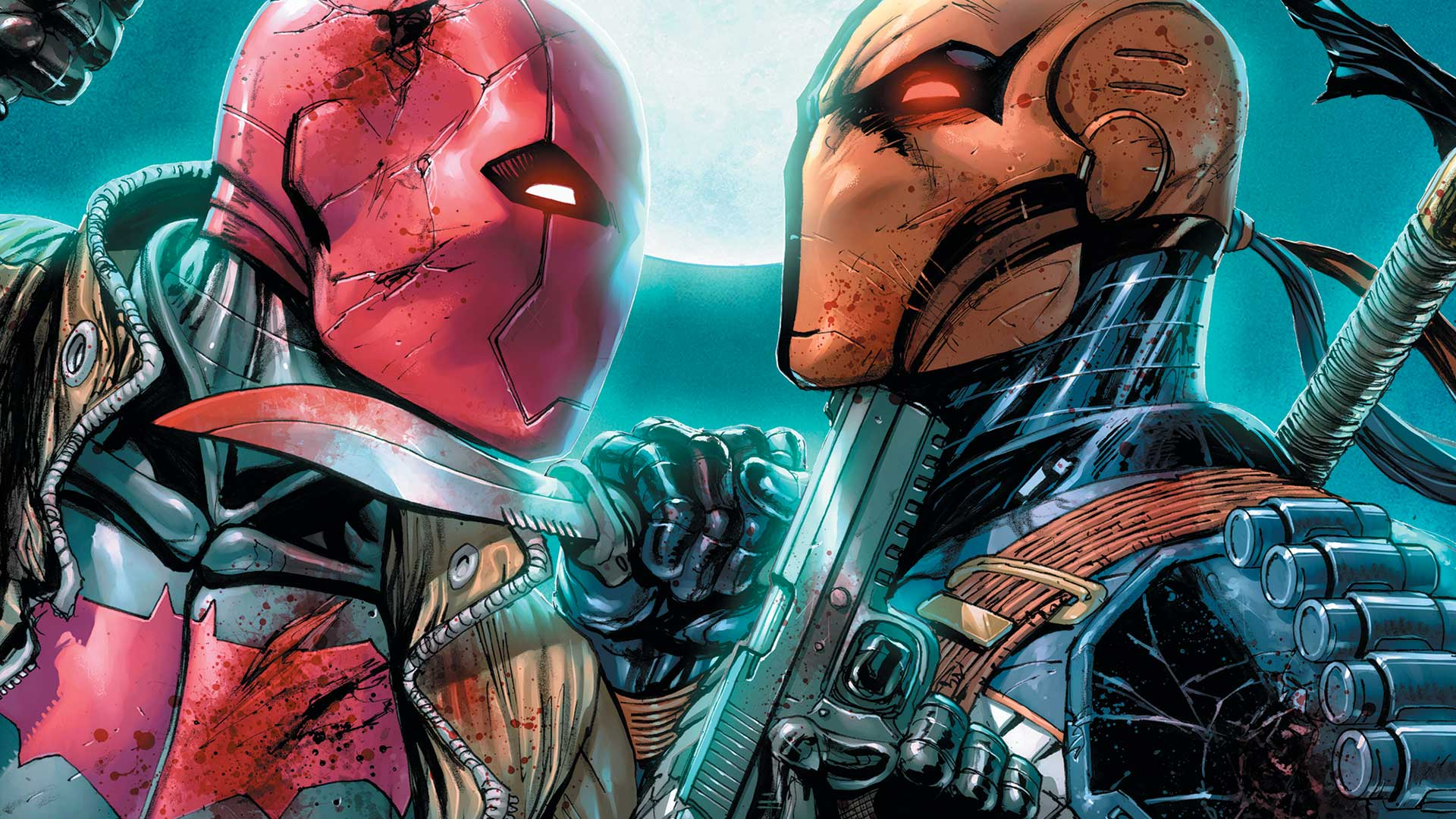Deadshot wallpaper galleryhip com the hippest galleries - This Just Happened It S Deathstroke Vs Red Hood And More