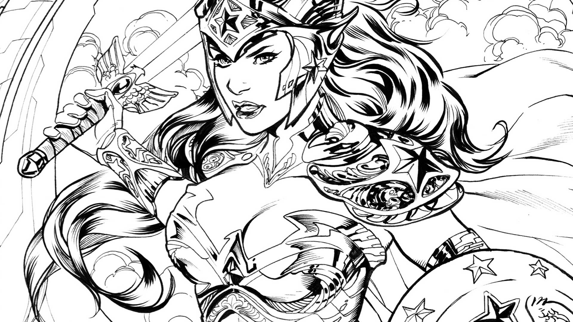 Clip Art Wonderwoman Coloring Page coloring dc wonder woman dc