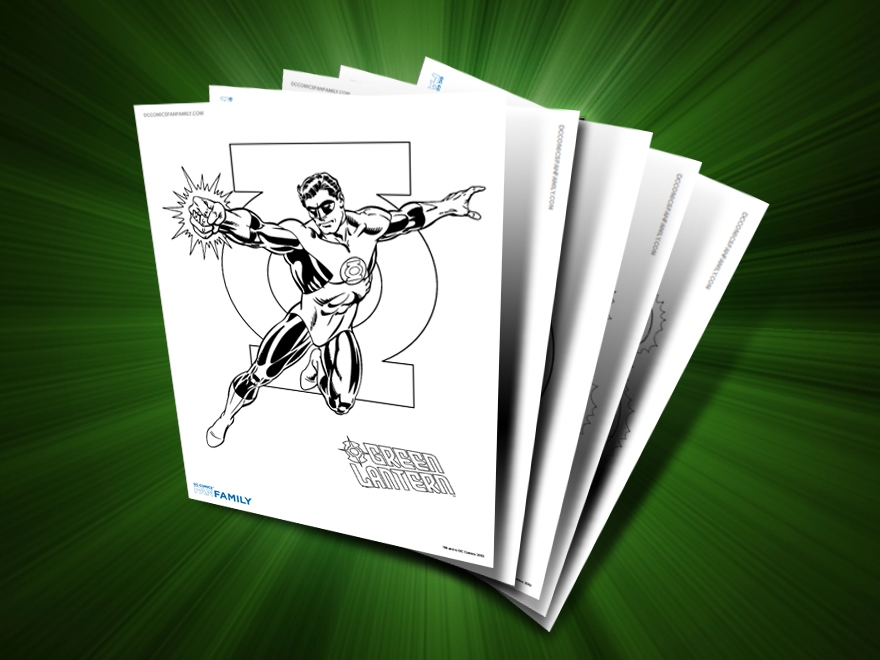 themed printables green lantern - Green Lantern Logo Coloring Pages