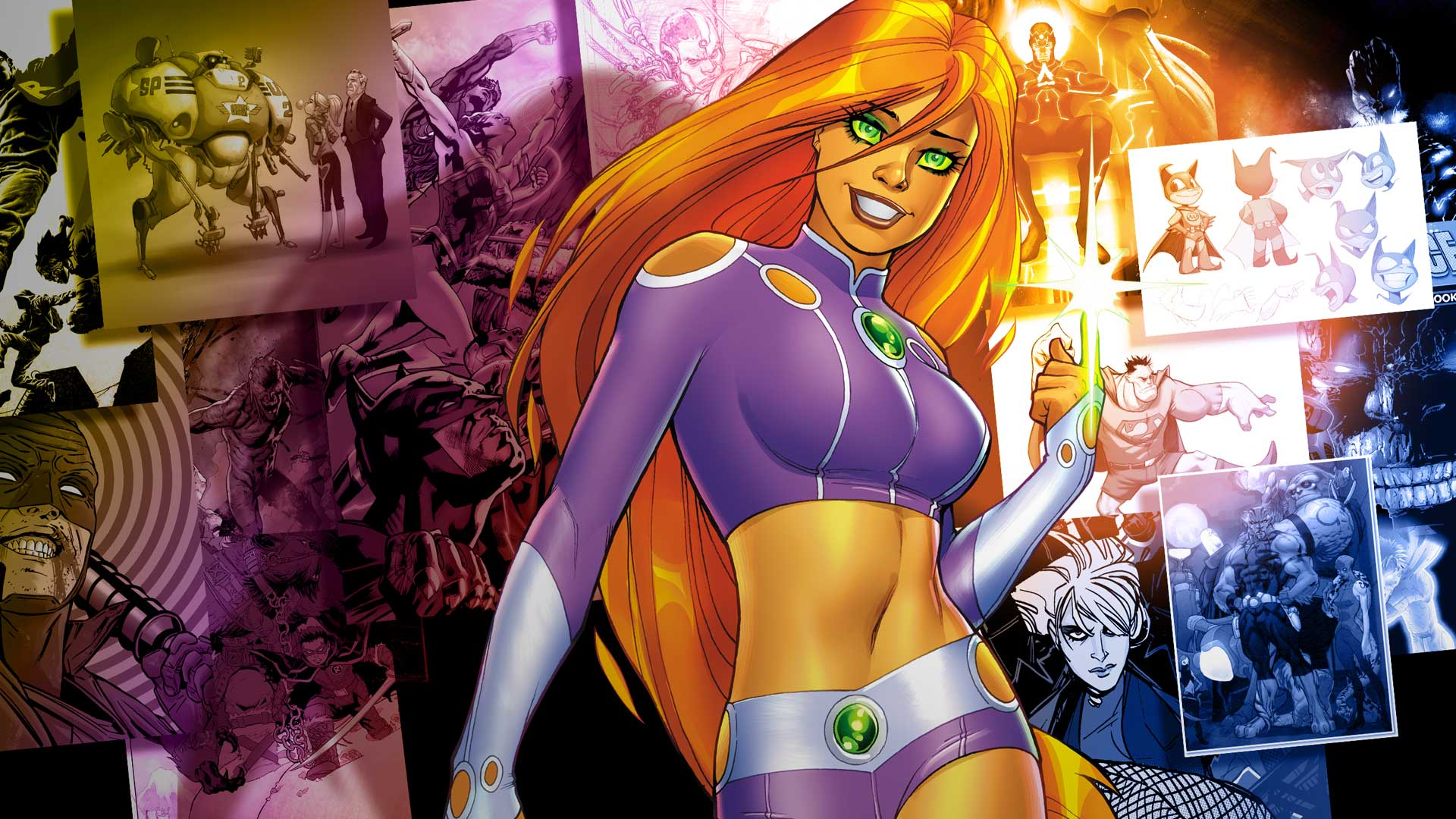 DC Sneak Peeks Starfire Section 8 Midnighter Prez And More