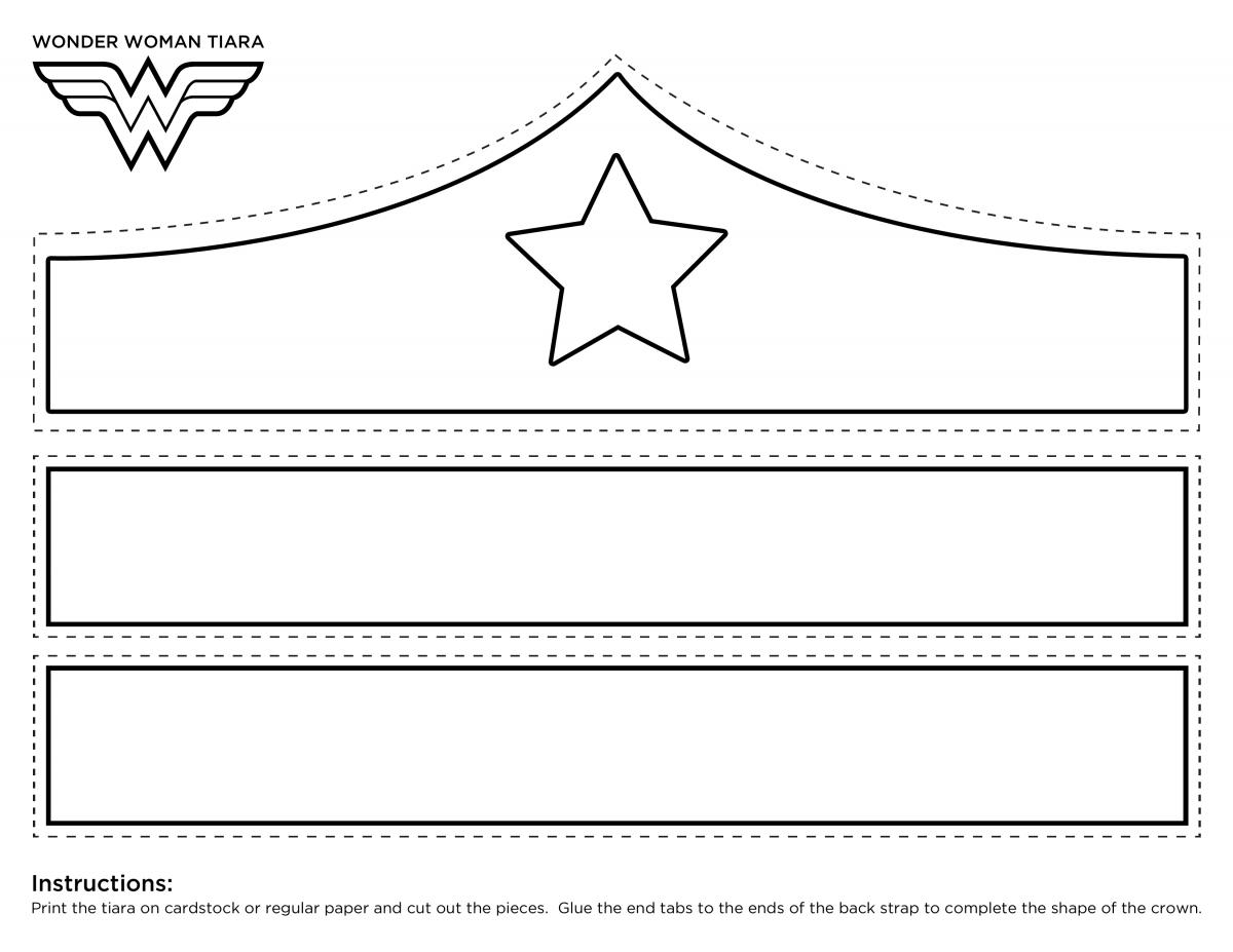 Exhilarating image in wonder woman template printable