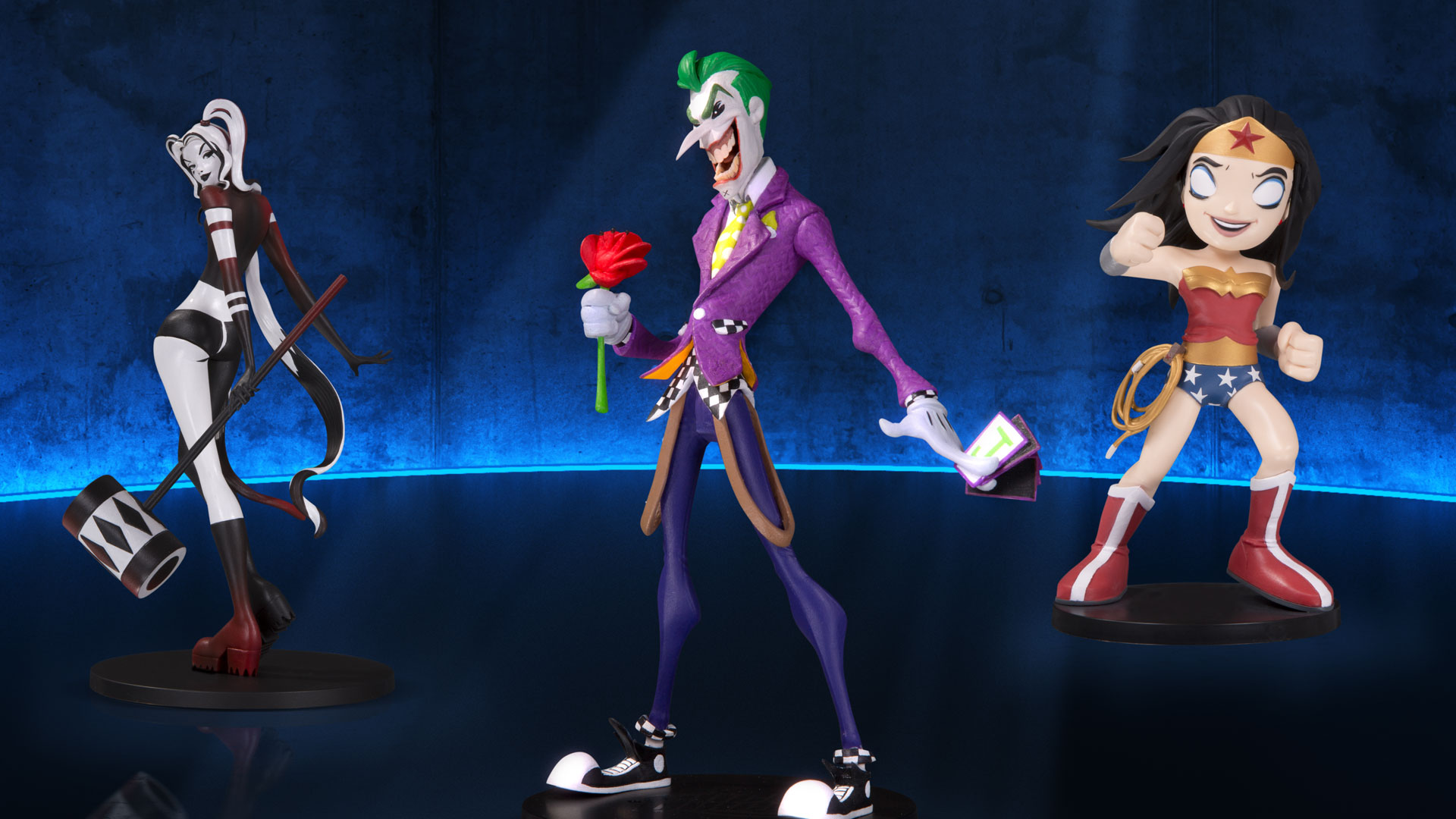 """The Joker by Hainanu /""""Nooligan/"""" Saulque Vinyl DC Collectibles DC Artists Alley"""