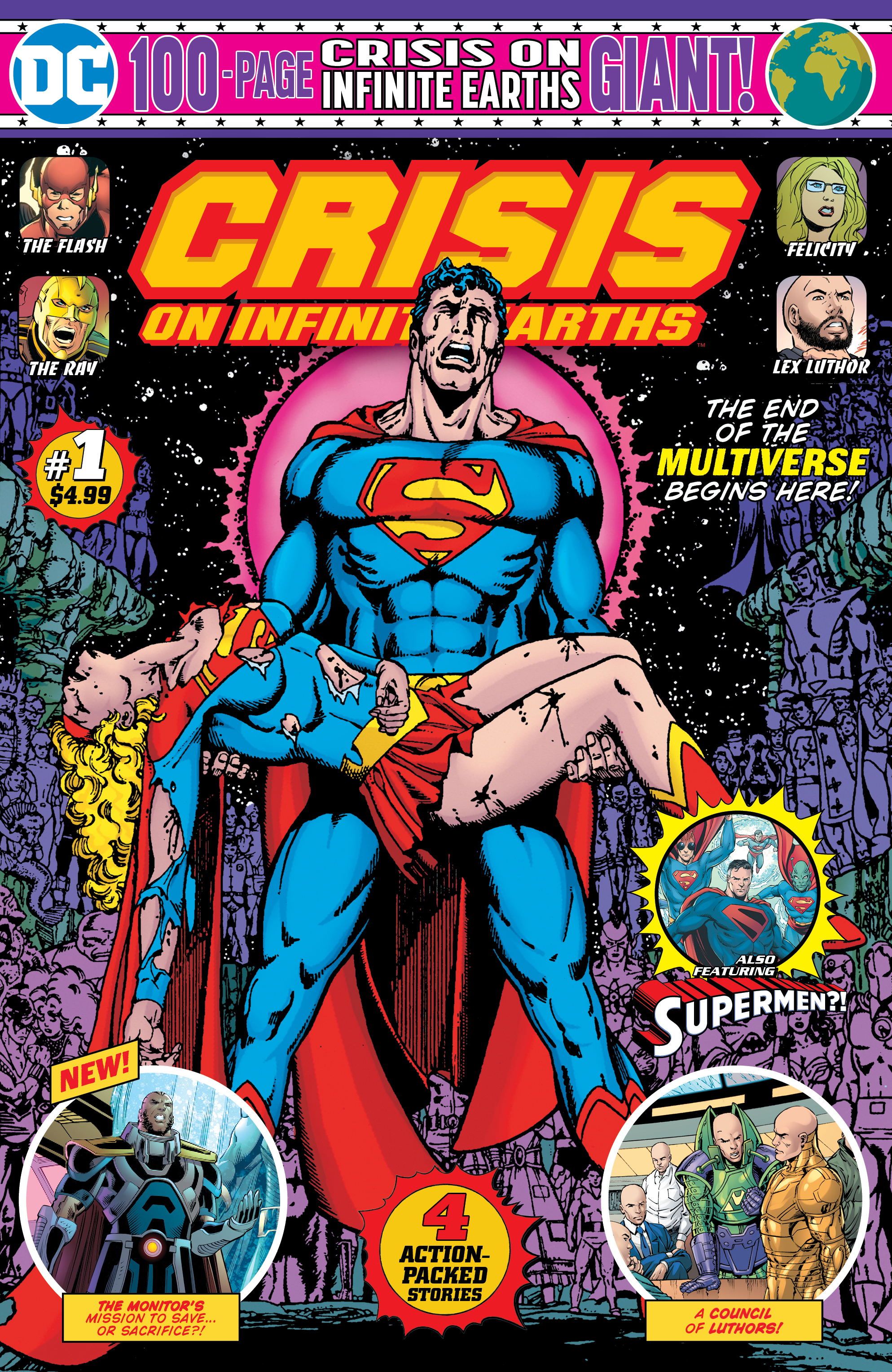 Image result for crisis on infinite earths comic