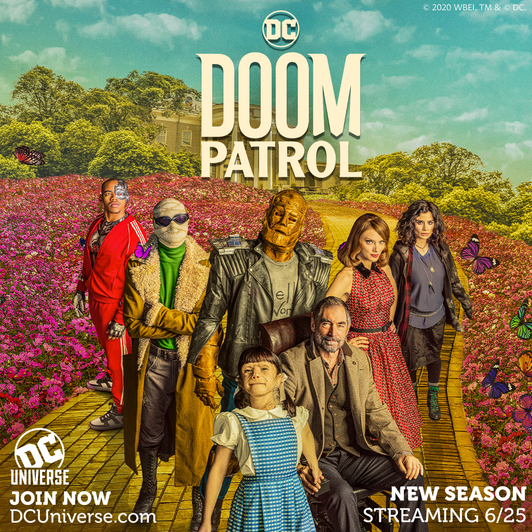 Dc Universe Debuts New Doom Patrol Season Two Key Art Starring