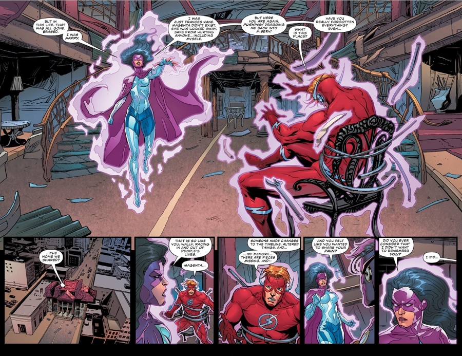 This just happened wally west races into danger dc magentas reaction all but confirms wallys fears about connecting with people he once knew unlike barry who returned to people who missed him thecheapjerseys Images