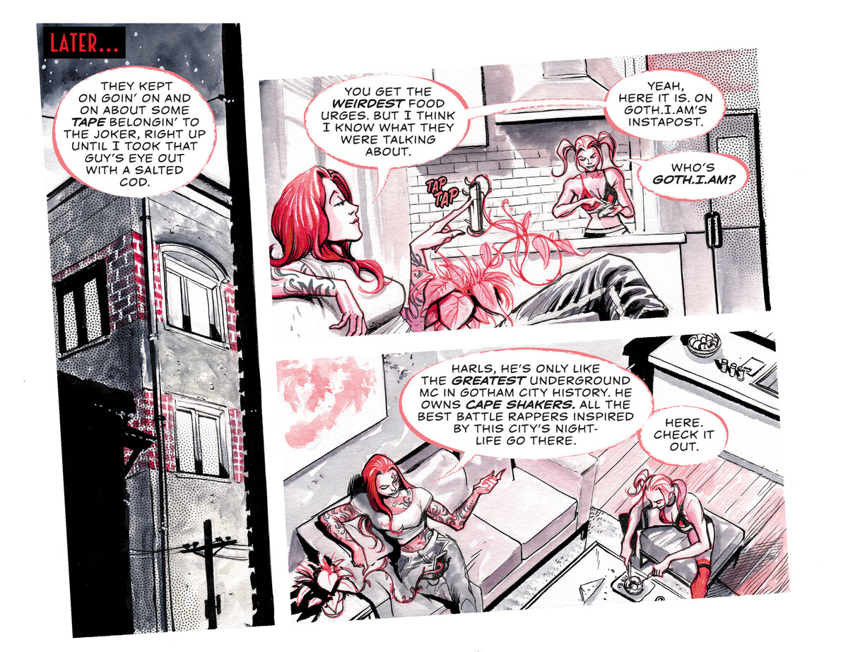 Harley Quinn Black White Red Chapter Four Who Dis Dc