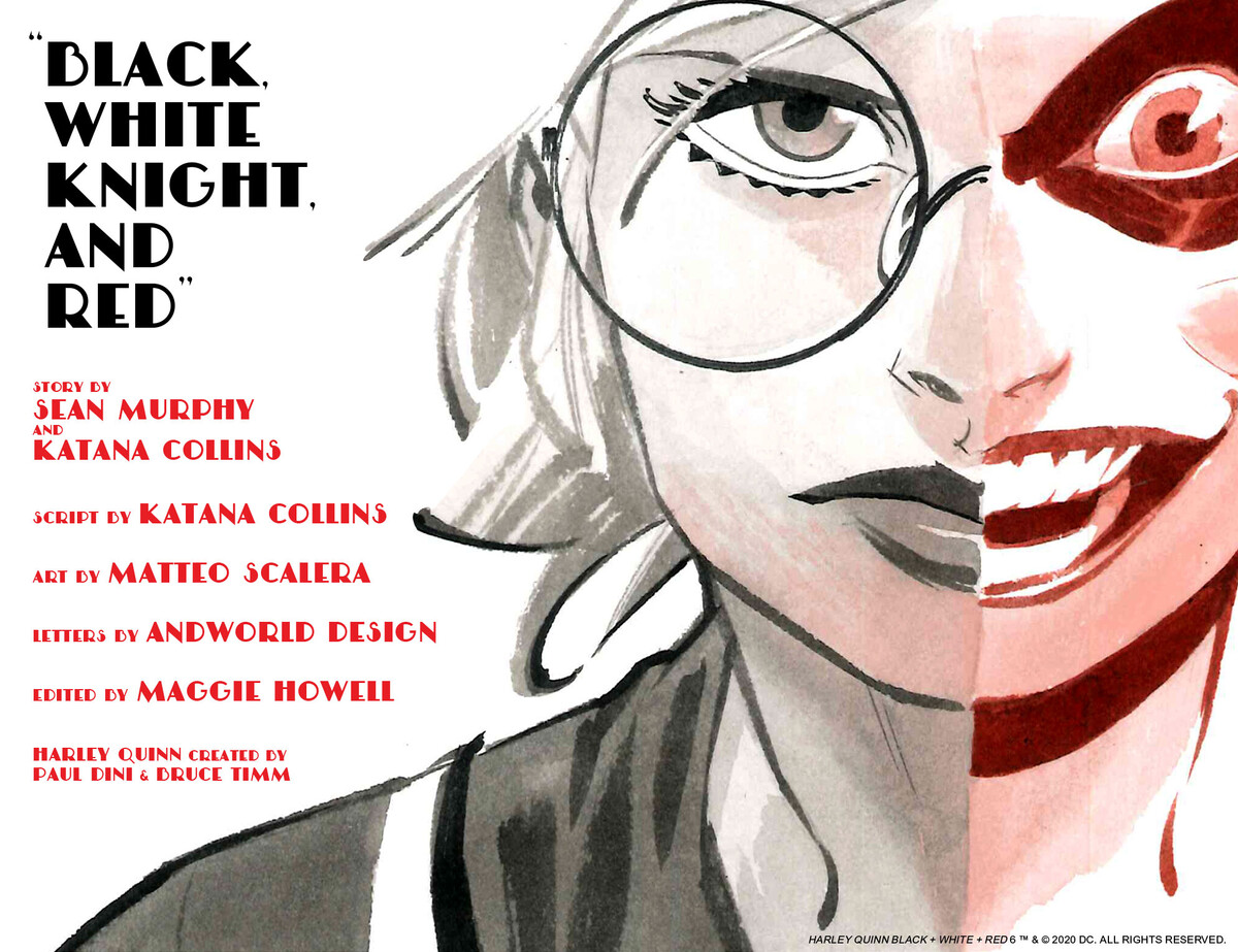 Harley Quinn Black White Red Chapter Six Black White Knight And Red Dc
