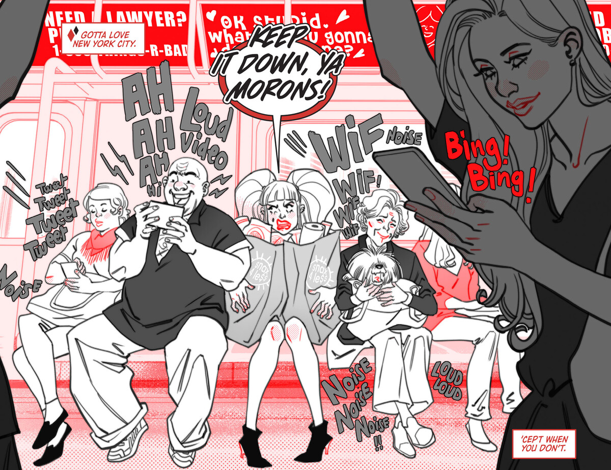 """HQBWR 08 page 1 5f36af541fe4f1.97889358 Harley Quinn Black + White + Red Chapter Eight: """"The End of The Line"""""""