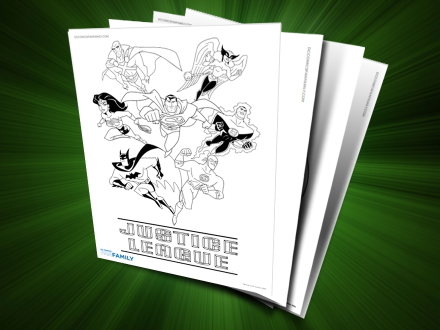 themed printables justice league