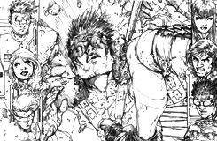 Pencil drawing for the first page of TEEN TITANS ANNUAL #1