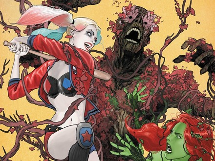 First Look: Harley and Ivy Fight the Floronic Man