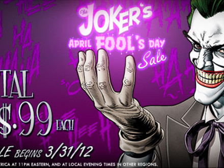 The Joker's April Fool's Day Sale