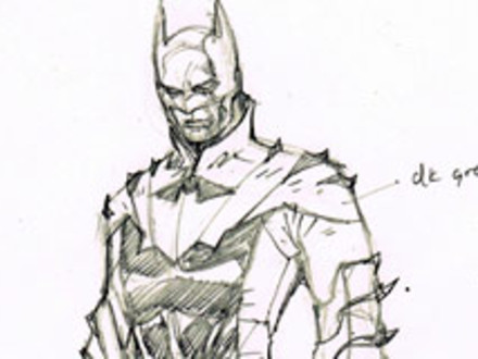Drawn image of Batman