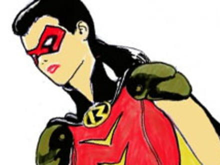 Drawn image of Woman Robin