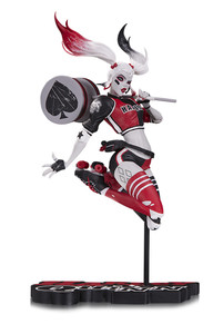 Harley Quinn Red, White and Black Babs Tarr Statue