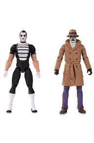 DOOMSDAY CLOCK: 02 RORSCHACH AND MIME ACTION FIGURE 2-PACK