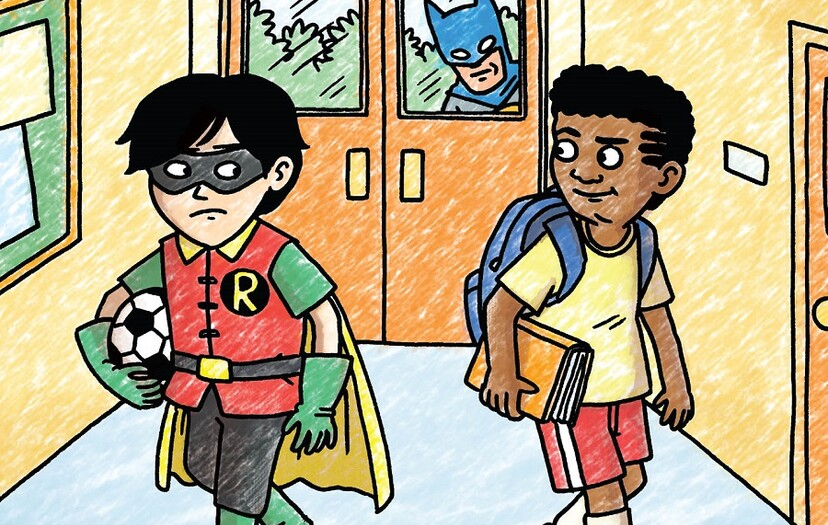 Damian Meets His Match in Jeffrey Brown's Batman and Robin and Howard