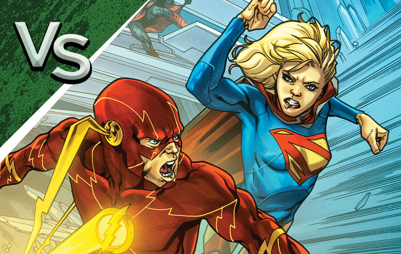 DC All Access: The Flash vs. Supergirl