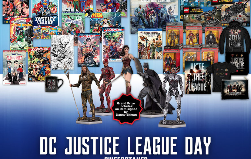 All-New Chance to Win In Celebration of Justice League Day November 18th!