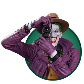 Joker collectible with camera