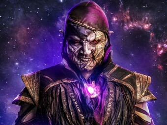 First Look: Nick E. Tarabay Suits Up as Stargirl's Eclipso