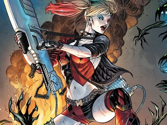 First Look: Harley Quinn, Space Alien Hunter!