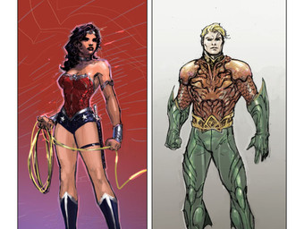 Justice League Sketchbook: Wonder Woman, Aquaman and The Flash