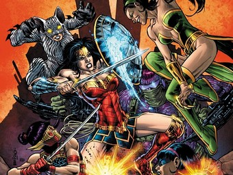First Look: Wonder Woman Takes Down Cheshire, Plastique and More!
