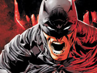 Close up of Batman in enraged