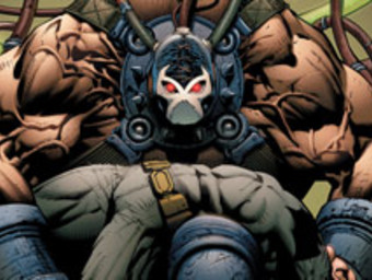 Bane flexing while holding a solider