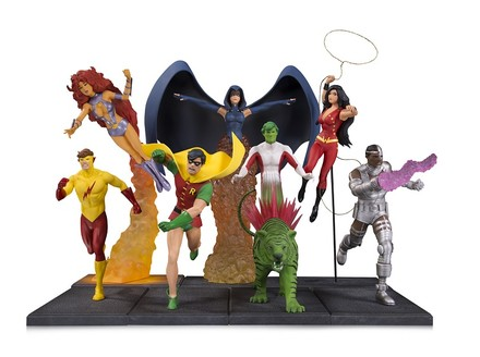 DC Collectibles Brings a Classic Teen Titans Cover to Life