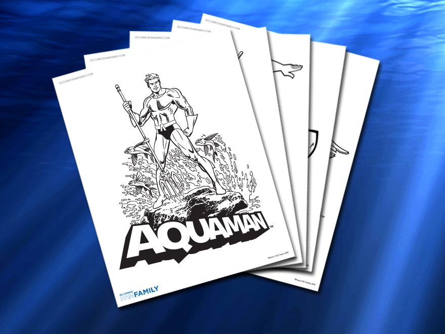 justice league coloring pages aquaman Coloring4free ... | 660x880